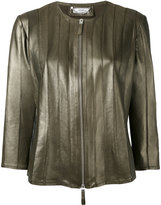 Desa 1972 - zip front jacket - women - Leather/Polyester/Spandex/Elastane - 40