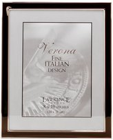 "Lawrence Frames Silver Plated 8 x 10"" Metal w/ Brown Enamel Frame"