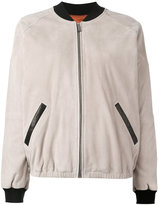 Barbara Bui leather bomber jacket - women - Silk/Goat Skin/Rayon/Viscose - 36