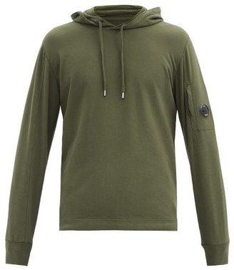 C.P. Company Goggle-lens Cotton-jersey Hooded Sweatshirt - Green