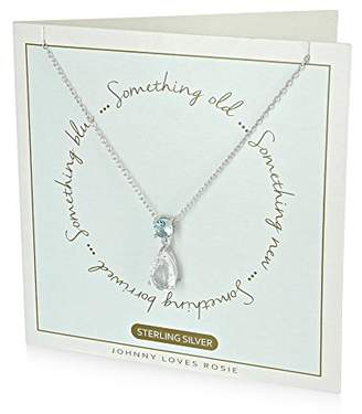 Johnny Loves Rosie Women Multicolour Glass Chain Necklace of Length 44cm Something Borrowed Gift Card