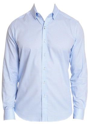 Robert Graham Alabaster Houndstooth Button-Down Shirt