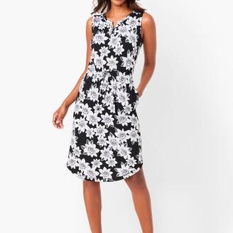 Talbots Floral Henley Midi Dress