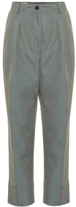 Dries Van Noten Cotton-blend high-rise pants
