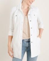 Chico's Chicos No-Stain White Elongated Denim Jacket