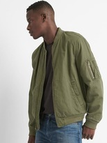 Cotton-linen bomber jacket