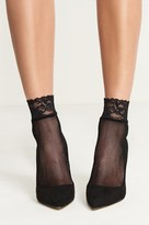 Dynamite Ankle Fishnet Socks With Lace