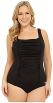Speedo Plus Size Shirred Tank One-Piece