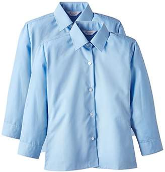 Trutex Girl's 2PK Non Iron Long Sleeve Blouse