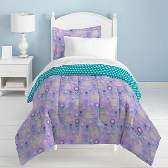 Dream Factory Cat Garden Twin Comforter Set Grey
