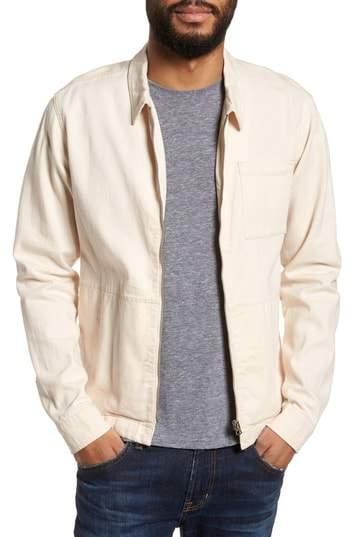 YMC Bowie Zip Front Shirt