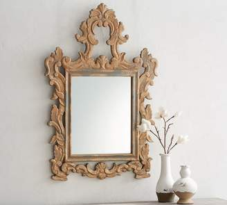 Pottery Barn Ornate Carved Wood Mirror