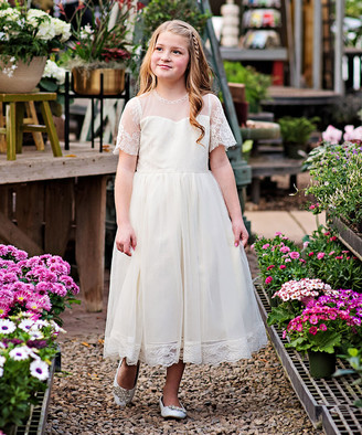 Couture Just Girls' Special Occasion Dresses Ivory - Ivory Phoebe Dress - Toddler & Girls