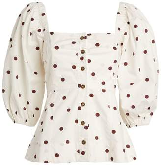 Ganni Polka Dot Top
