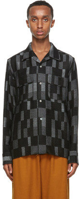 Needles Black and Grey Wool Patchwork Shirt