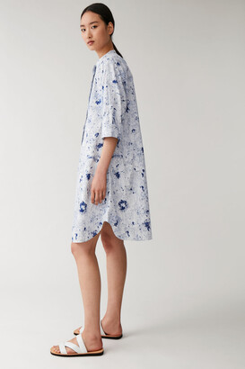 Cos Printed Organic Cotton Shirt Dress
