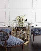 Bernhardt Selinda Glass-Top Dining Table