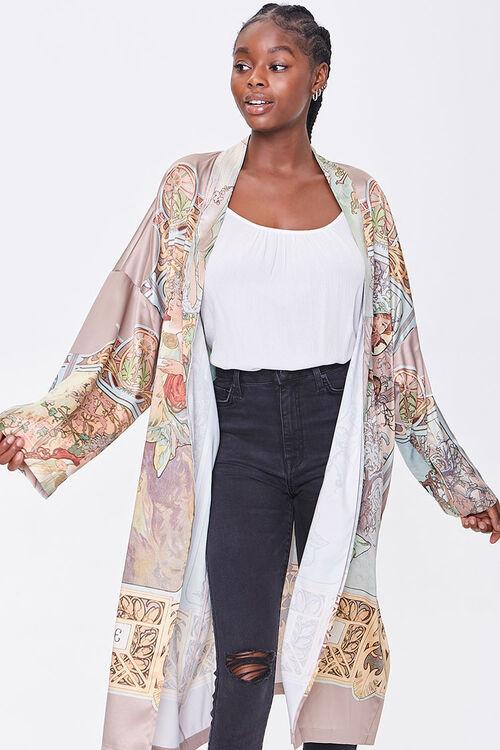 Forever 21 Alphonse Mucha Print Kimono