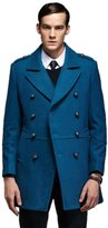 Liveinu Men's Classic Slim Fit Busniess Wool Blend Pea Coat XL