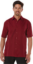 Cubavera Big and Tall Ombré Embroidered Short-Sleeve Shirt