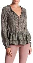 William Rast Aimee Print Embellished Blouse