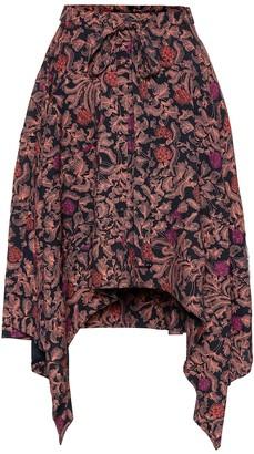 Proenza Schouler Paisley handkerchief-hem skirt