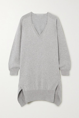 Stella McCartney Cashmere And Wool-blend Mini Dress - Gray