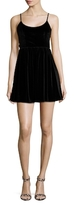 Lucca Couture Velvet Side Lace Up Dress