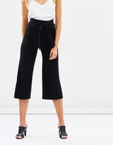 Miss Selfridge Tie Crop Jersey Trousers