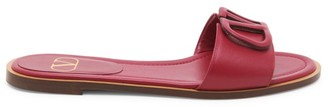 Valentino Garavani VLogo Leather Slide Sandals