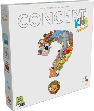 Spot It Concept Kids Animals Board Game