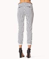 Forever 21 Striped Denim Trousers