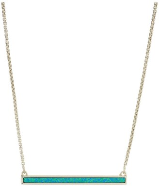 Kendra Scott Kelsey Short Pendant Necklace for Women Dainty Fashion Jewelry 14k Rhodium Plated