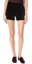 Alice + Olivia Marisa Zip Back Velvet Shorts
