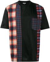 Lanvin checked panel T shirt - men - Cotton - S