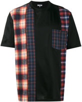 Lanvin checked panel T shirt
