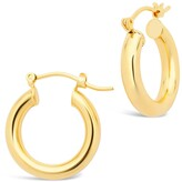 Thumbnail for your product : Sterling Forever 14K Gold Plated Chunky Tube Hoop Earrings