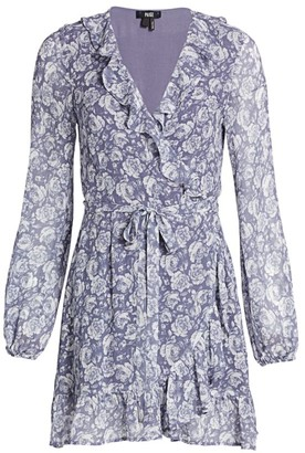 Paige Shawna Floral Print Silk Wrap Dress
