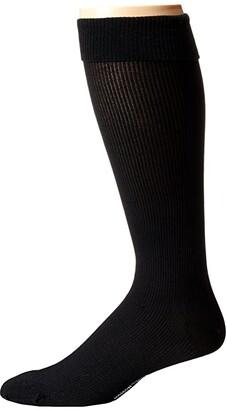 Wolford Long Distance Knee-Highs (Black/Black) Men's Knee High Socks Shoes