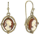 1928 Jewelry 1928 Gold-Tone Cameo Drop Earrings