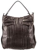 Valentino Metallic Leather Satchel