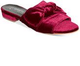 Kenneth Cole New York Women's Candice Velvet Bow-Detail Slide Sandals
