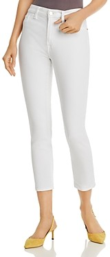 7 For All Mankind Jen7 by Cropped Skinny Jeans in White