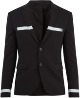 Neil Barrett Paint-stroke single-breasted stretch-wool blazer