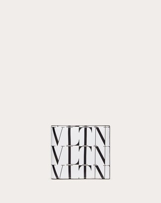 Valentino Garavani Uomo Vltn Times Wallet Man Optic White/black 100% Pelle Bovina - Bos Taurus OneSize