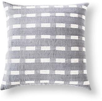 Bole Road Textiles Berchi 20x20 Cotton Pillow - Gray/White