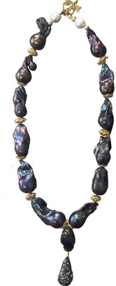 Nugget Purple Baroque Pearls & Amethyst With Pendant Necklace