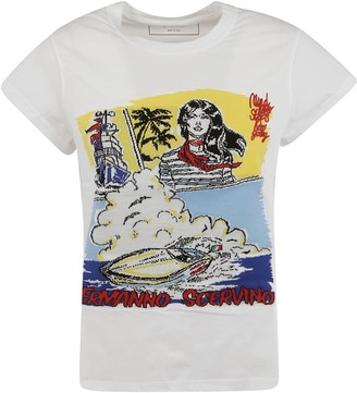 Ermanno Scervino Short Capped Sleeve Printed T-shirt
