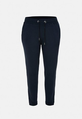 Missguided Plus Size Navy Tie Waist Joggers