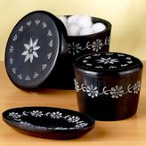 Black Soapstone Soap Dish or Canisters